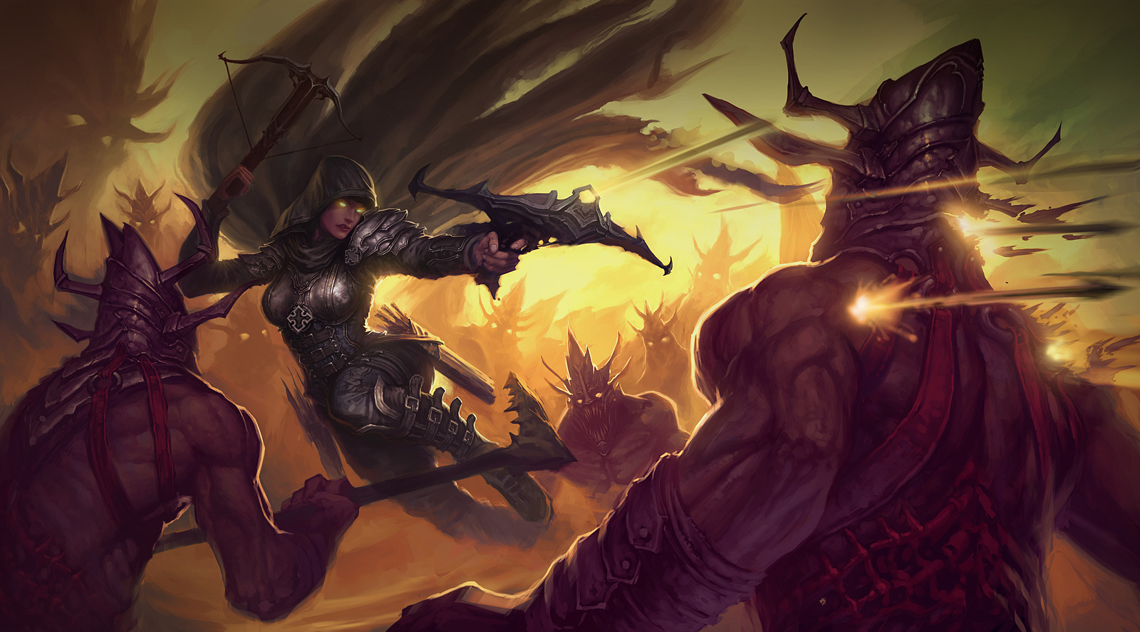 Artwork media diablo iii for Demon hunter