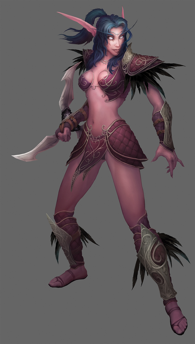 Wow night elf woman nackt naked toons